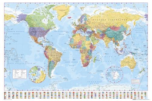 Plakat mapa świata, czyli obowiązkowy dodatek w mieszkaniu podróżnika